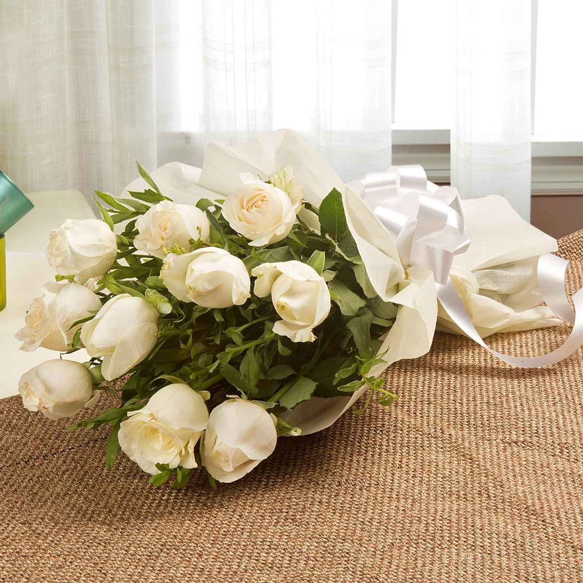 The Bouquet Of White Roses