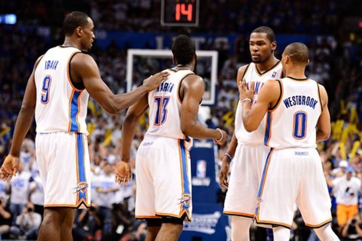 Kevin Durant, Russell Westbrook, James Harden and Serge Ibaka were all hand picked by the Oklahoma City Thunder on draft day.