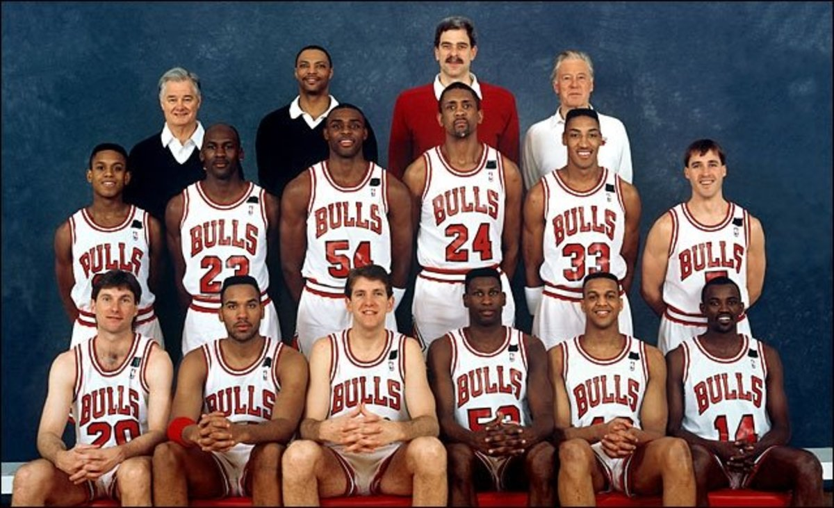buy popular 519ad 7efaa Michael Jordan vanquished the Portland Trailblazers with help from  teammates Scottie Pippen, Horace Grant,