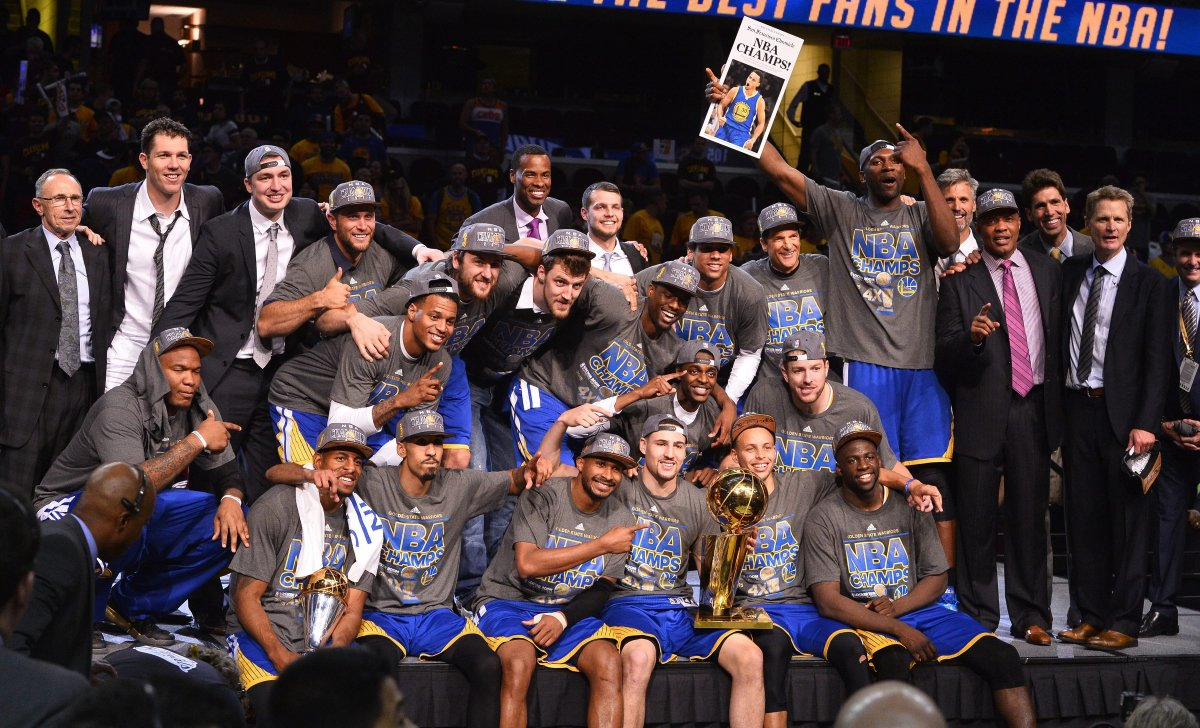 The Golden State Warriors capture their first championship in forty years.