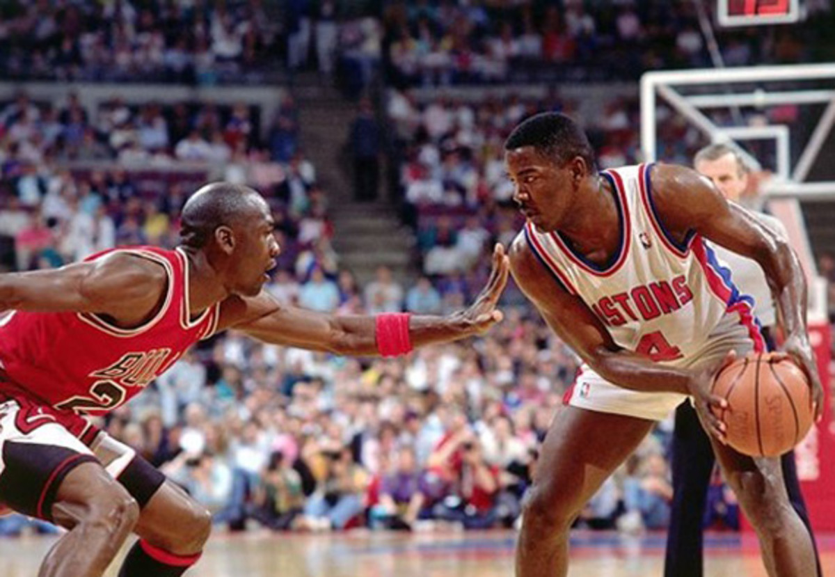 Michael Jordan was a force on both defense and offense.