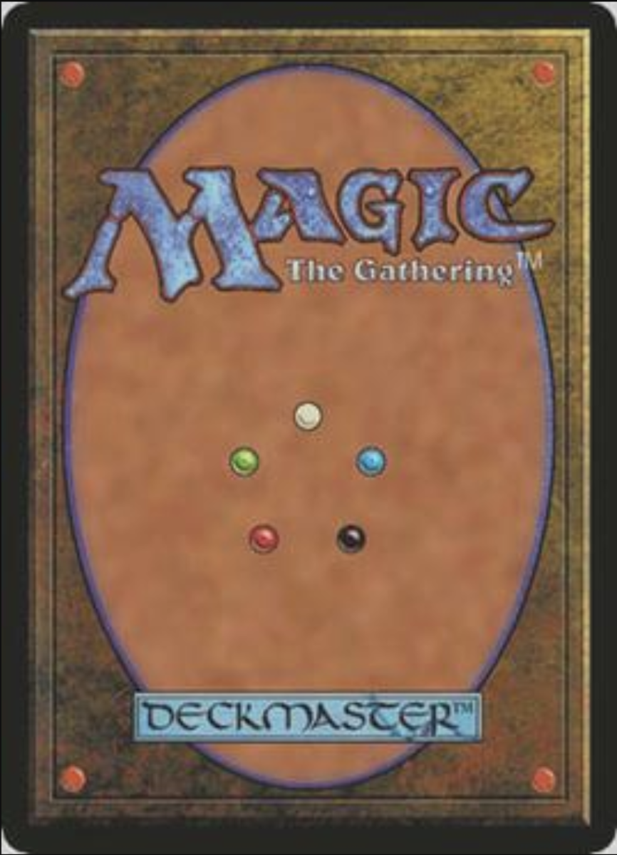 Magic the gathering-card back.