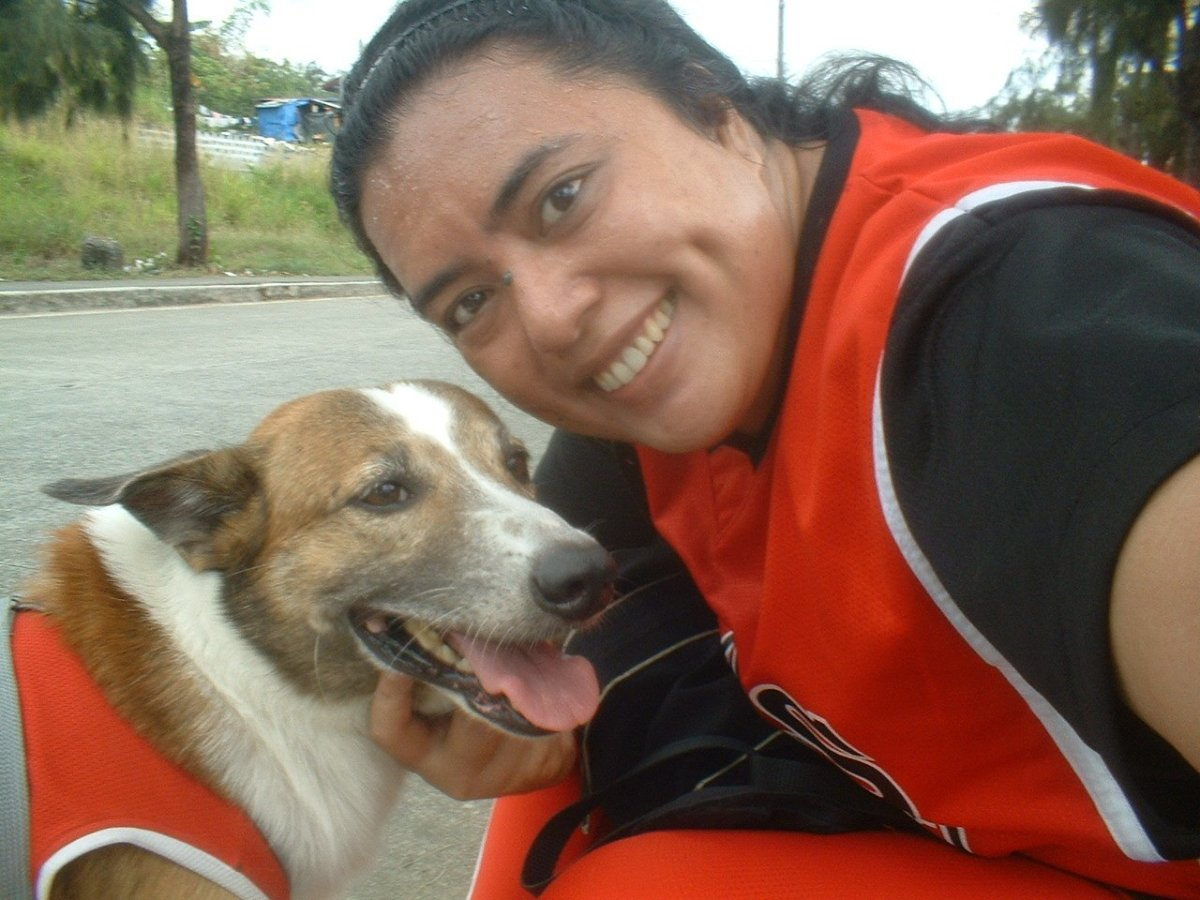 Taken in 2008, during one of our daily dog-walking activities to help him build up his strength.
