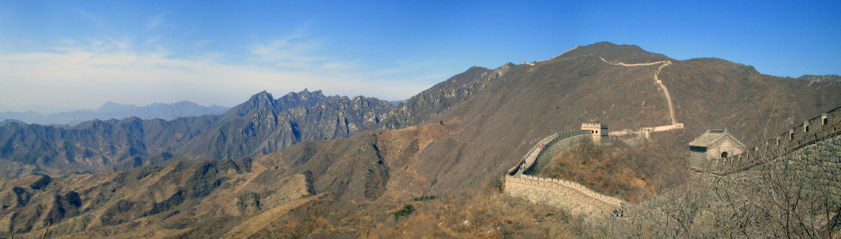 Panoramic view of the Great Wall China