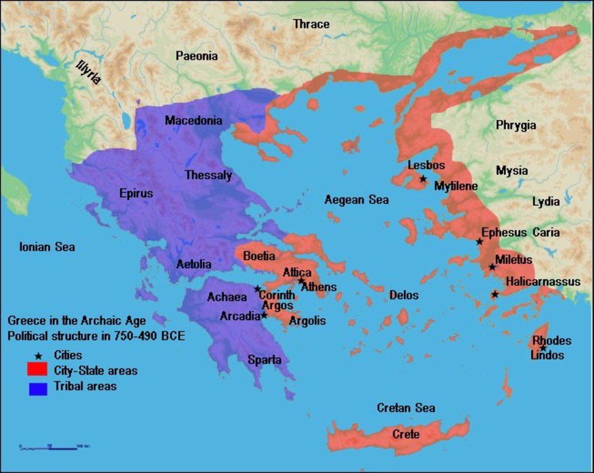 Ancient tribes of Greece, including Sparta and Athens