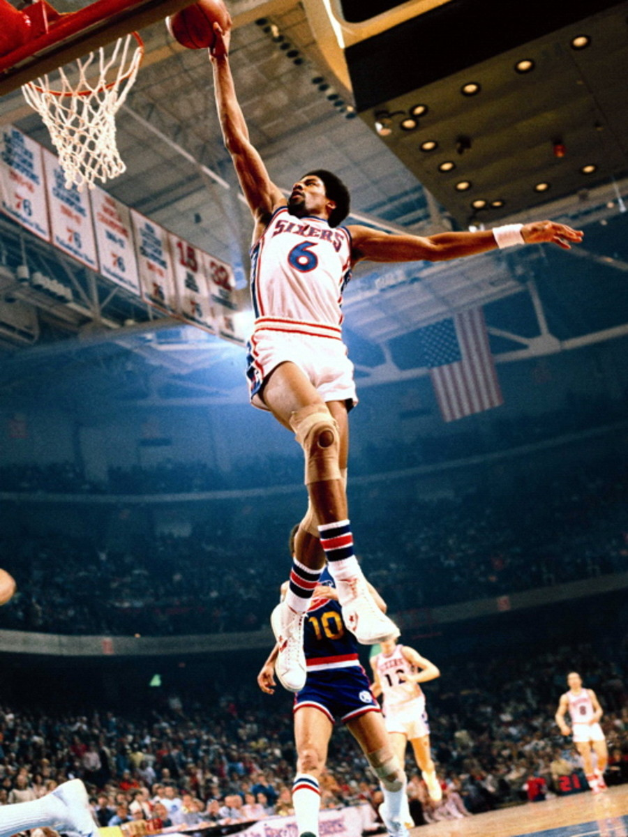 Julius Erving was the face of the NBA in the 1970's.