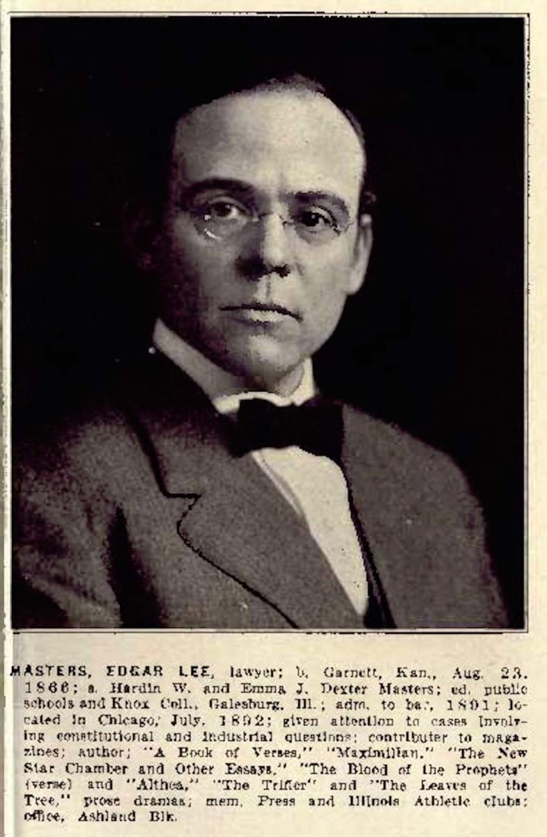 Edgar Lee Masters, Esq.