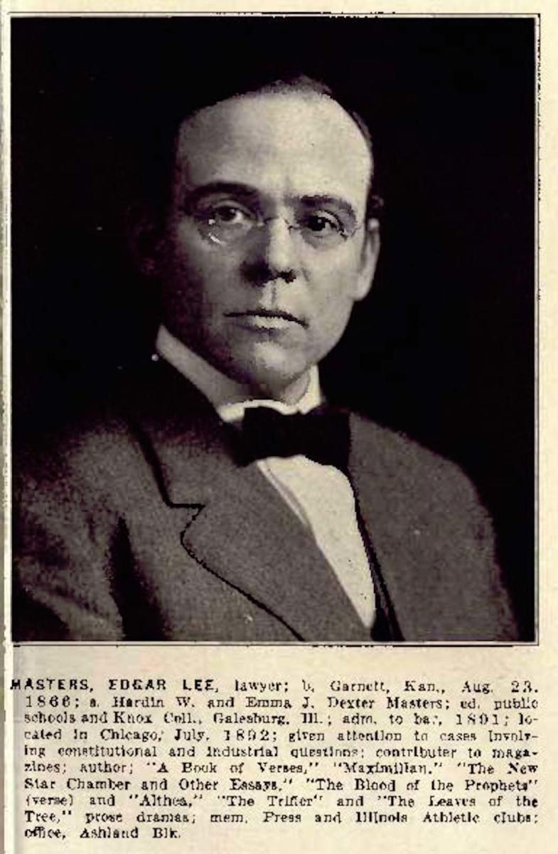 Edgar Lee Masters vintage