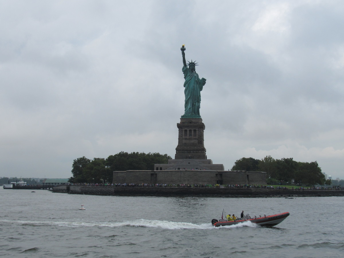 Lady Liberty from New York harbor.