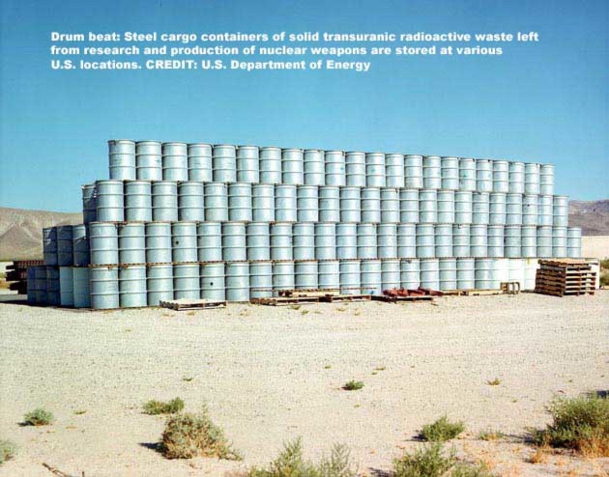 Steel storage containers for Nuclear Waste