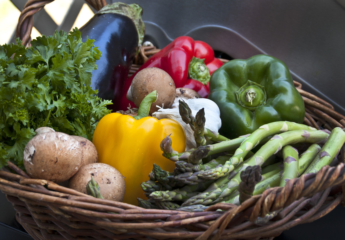 A yummy vegetable basket is a great source of fiber. Unfortunately fiber is not a great choice if you are in a flare-up.