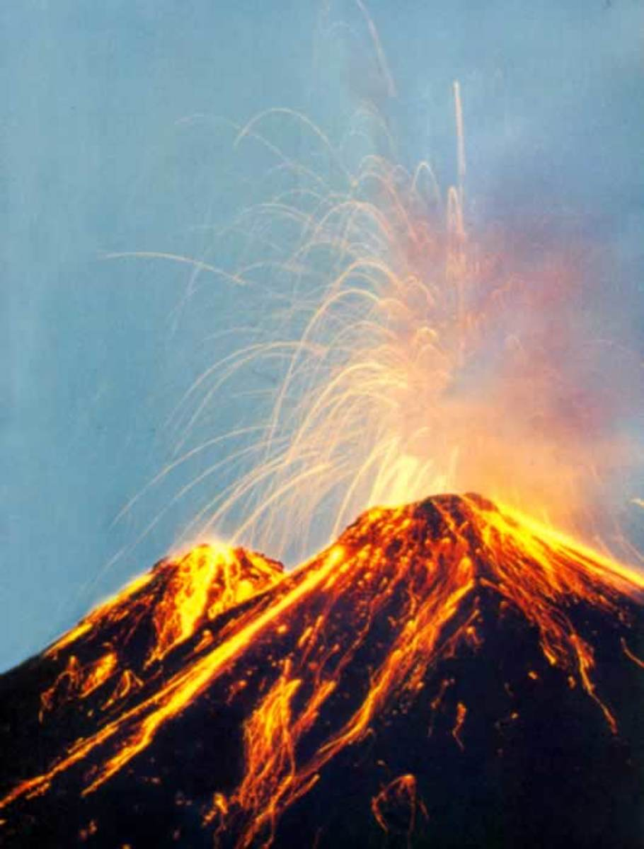 How To Draw A Volcano Drawing