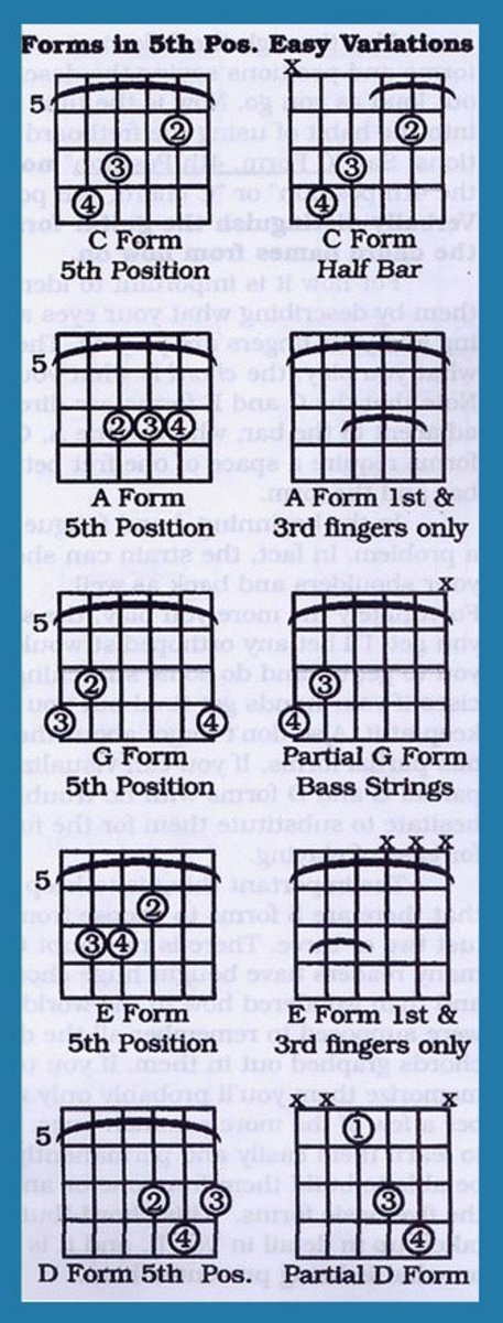Learn to Play Guitar : Barre Chords for Acoustic and Electric Guitar with Bar Chart