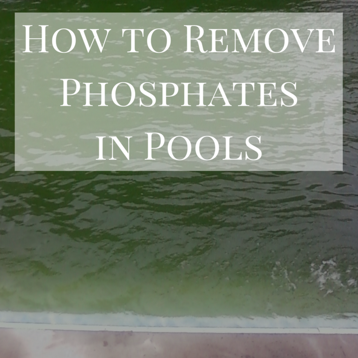How to remove high phosphates and stabilizer in a pool - Phosphate levels in swimming pools ...