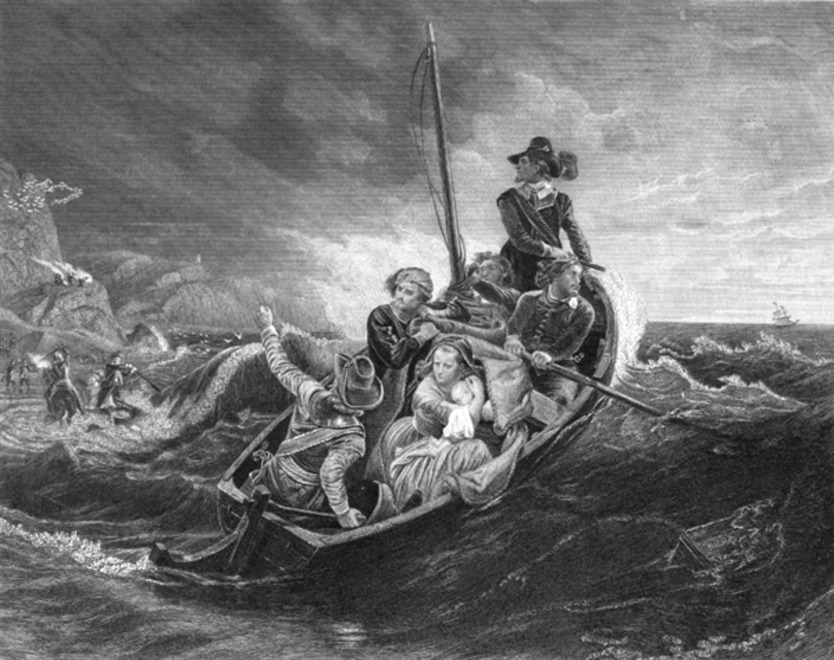 THE COURAGEOUS PURITANS CAME ACROSS THE SEA TO FOUND THE MASSACHUSETTS BAY COLONY