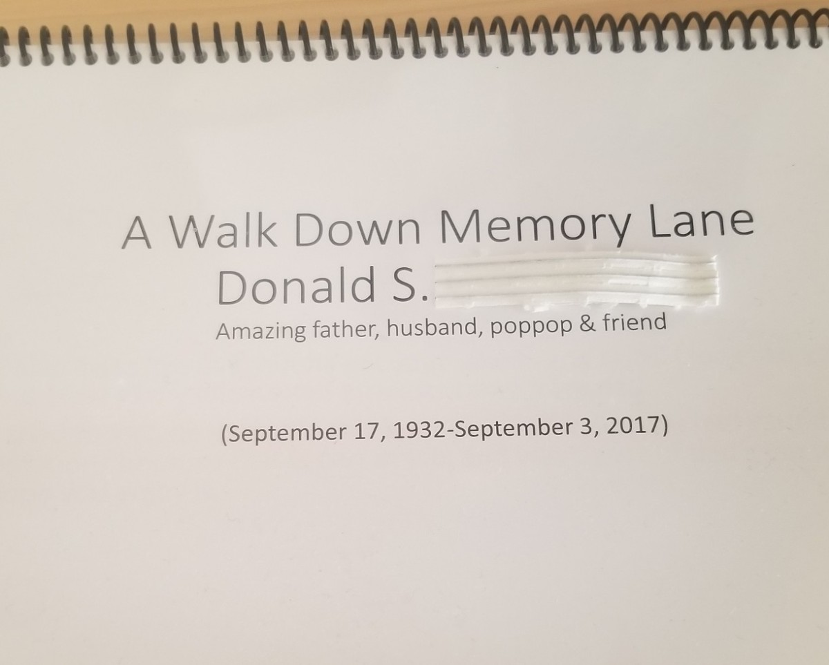Paying Respects to the Deceased With a Memory Book