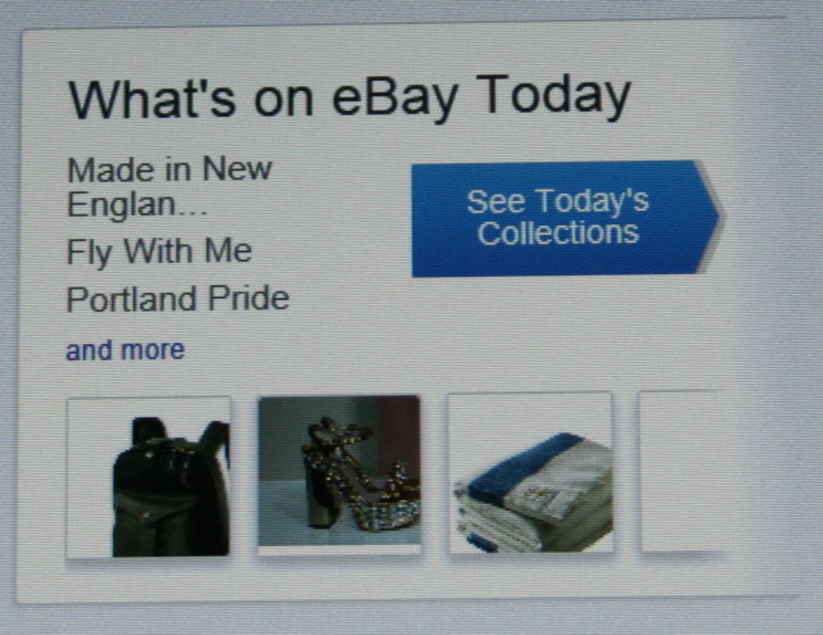 From the eBay home page.
