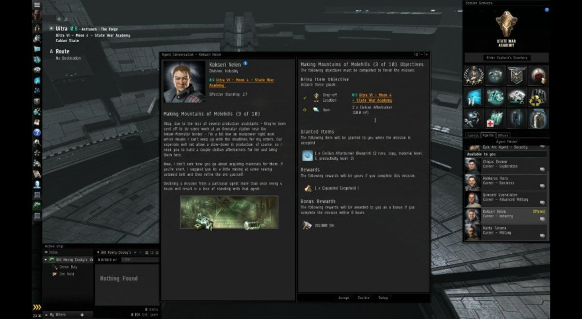 """""""EVE Online"""" Introduction to Manufacturing: Making Mountains of Molehills (3 of 10)"""