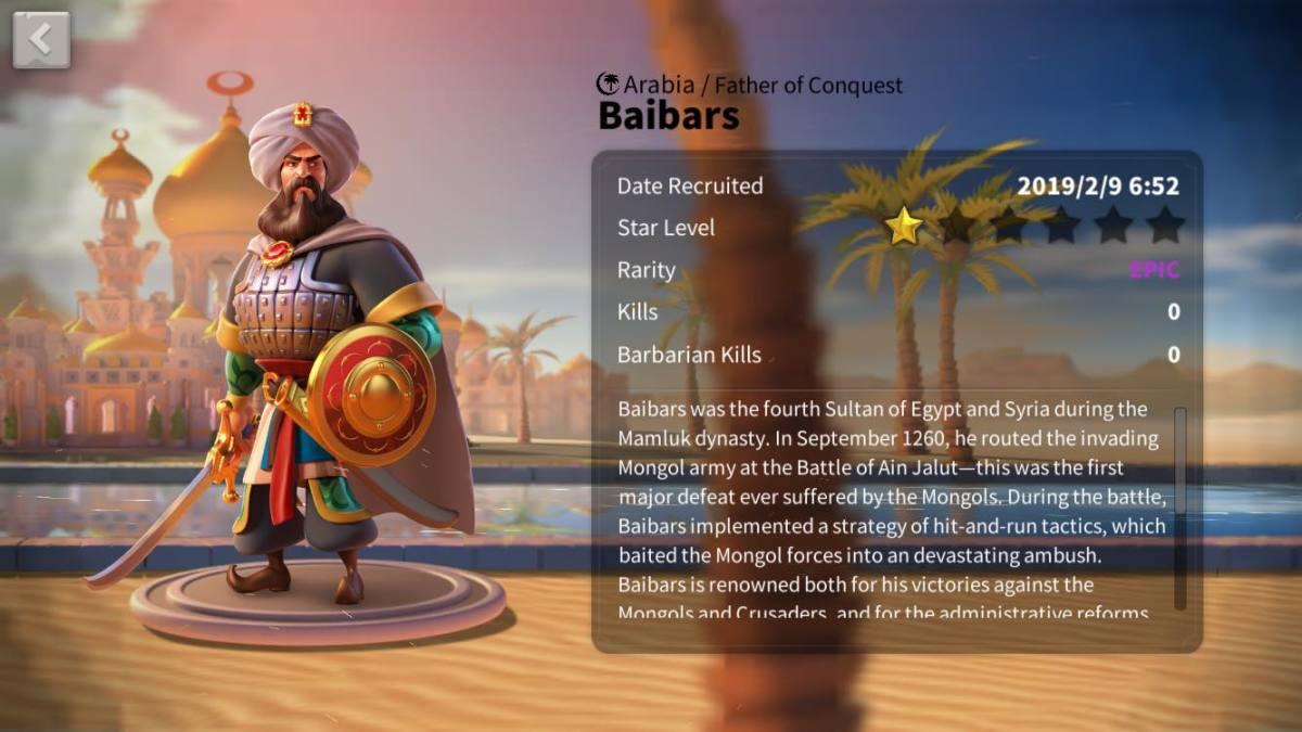 "Ultimate Baibars Talent Tree Build Guide in ""Rise of Kingdoms"""