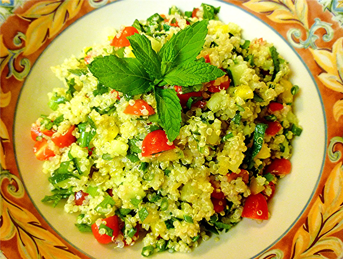 This quinoa salad makes a great side dish or meal!