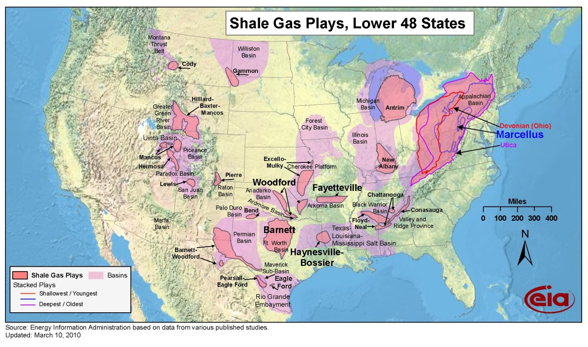 Shale gas plays in the lower 48 states(eia.doe.gov)