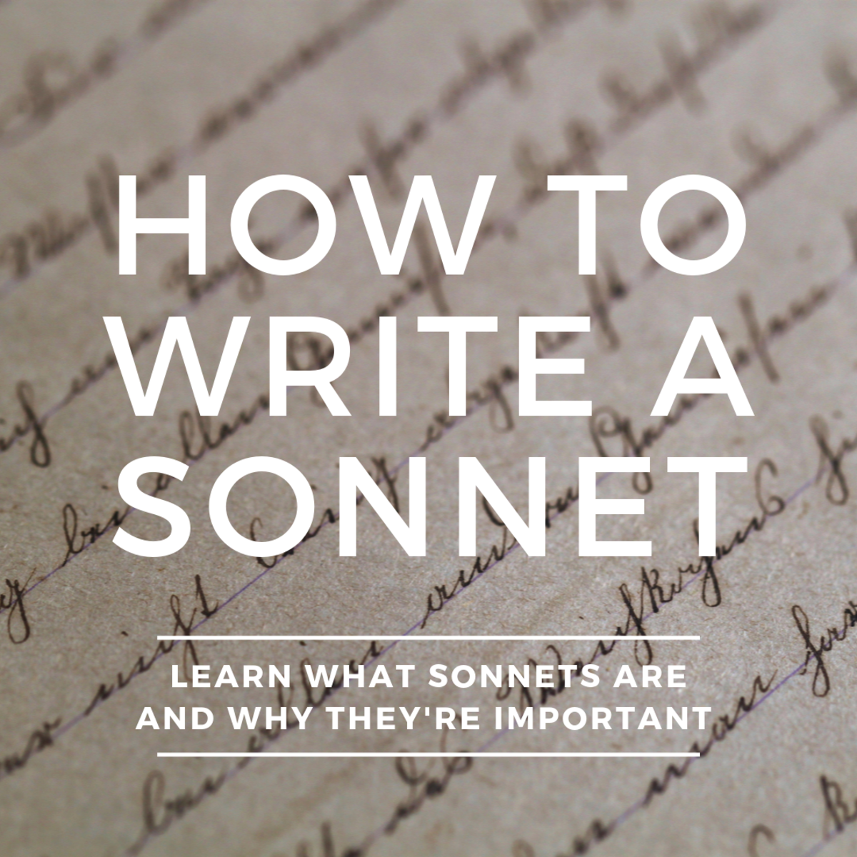 How (and Why) to Write a Sonnet