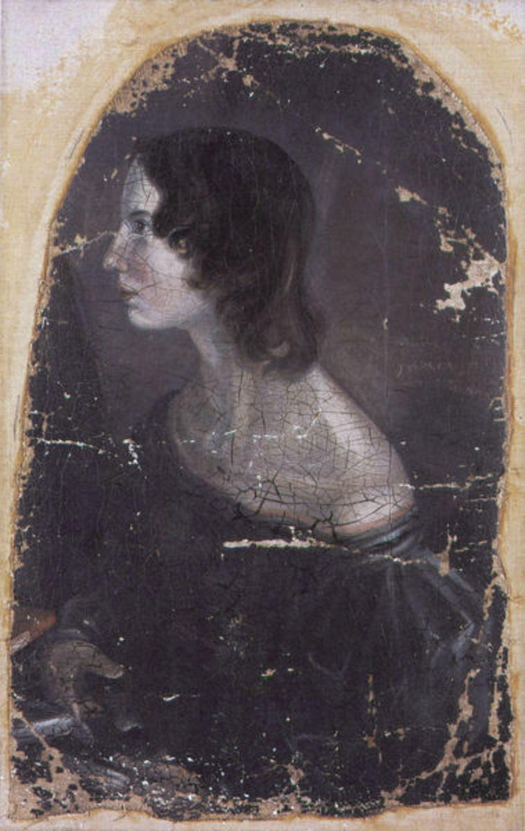 Disputed portrait. Claims have been made that this is Emily but many think it is Anne.