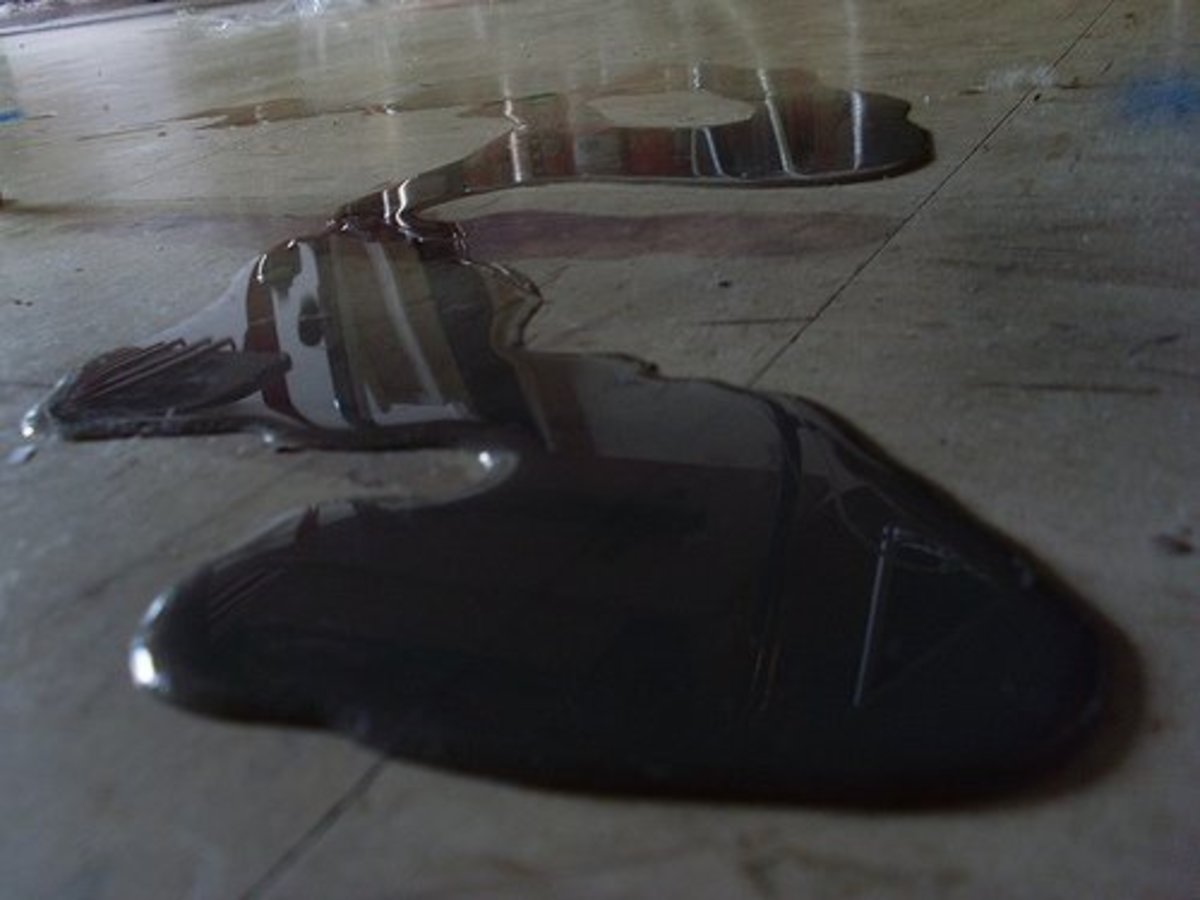 If you've spilled ink on the concrete, don't panic: you can use washing soda and water to remove the stain.