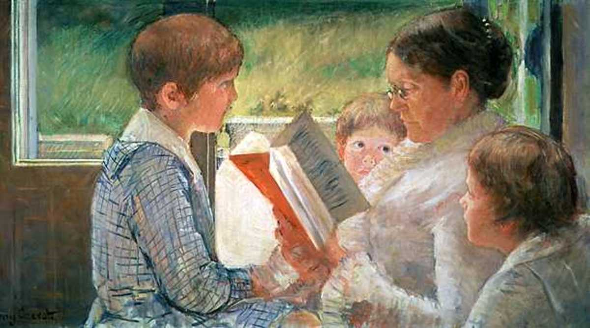Reading to Children by Mary Cassatt