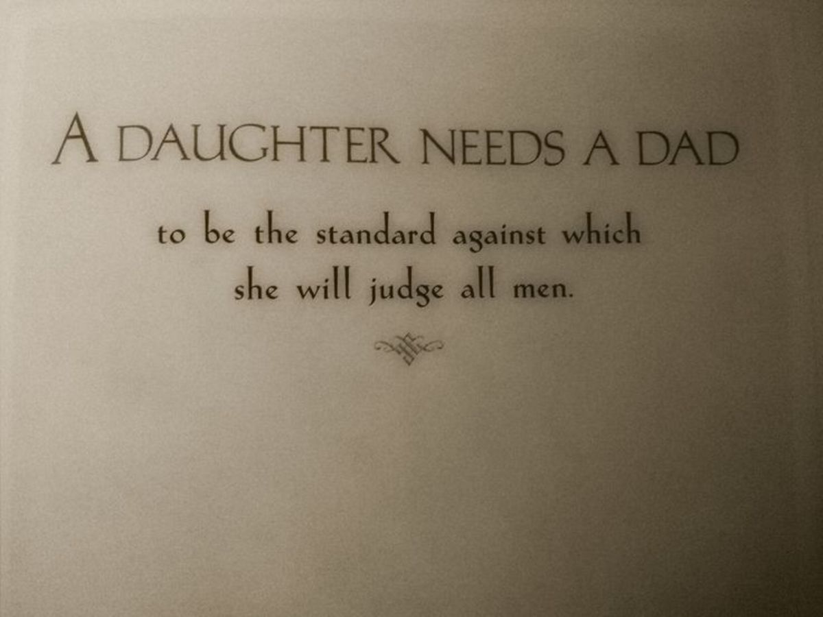 Fathers Be Good to Your Daughters