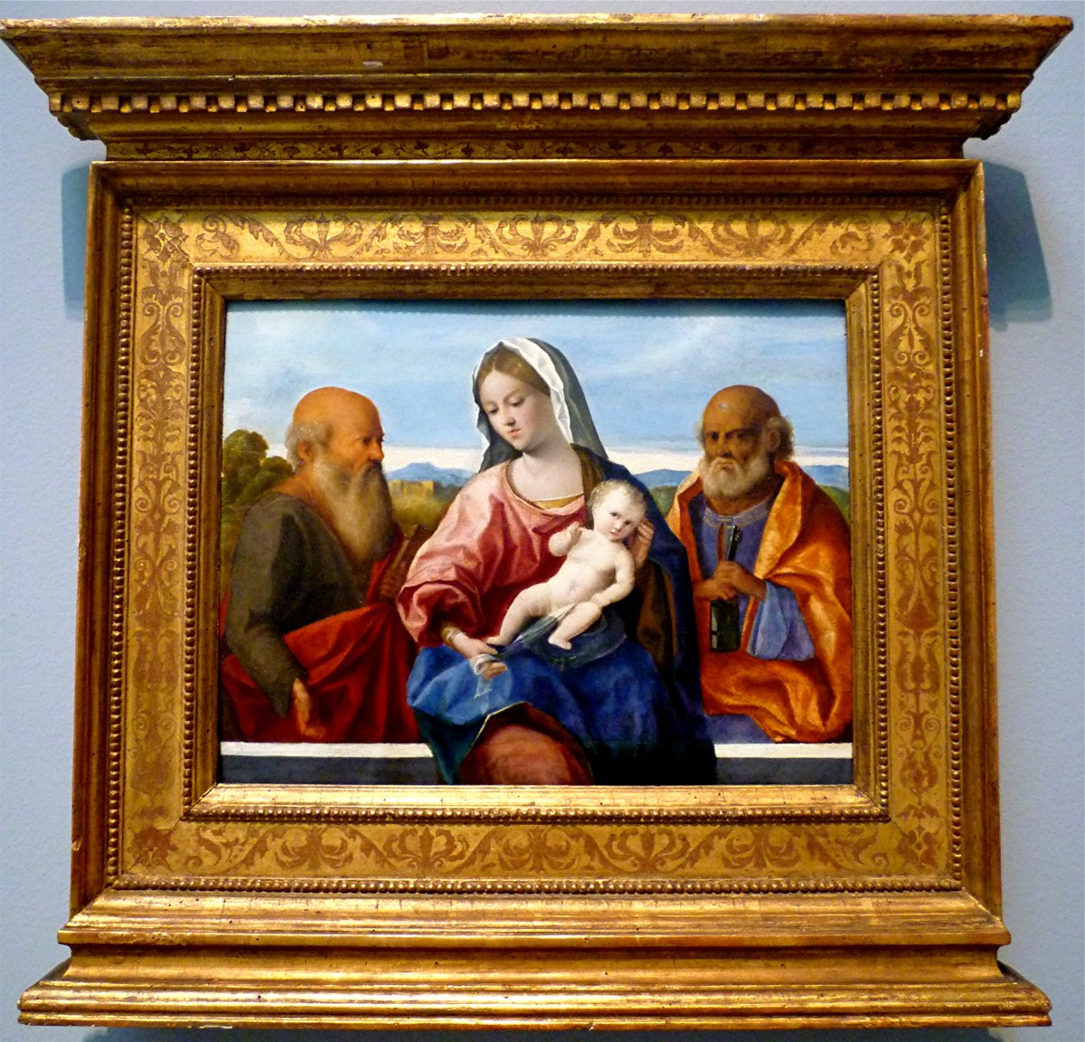 The Madonna and Child with Saints Peter and Paul by Pietro degli Ingannati