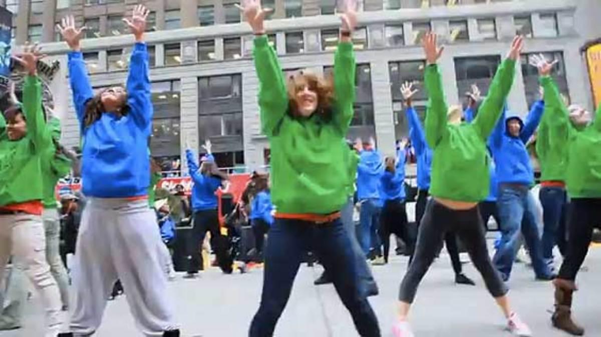 Wells Fargo bank flash mob