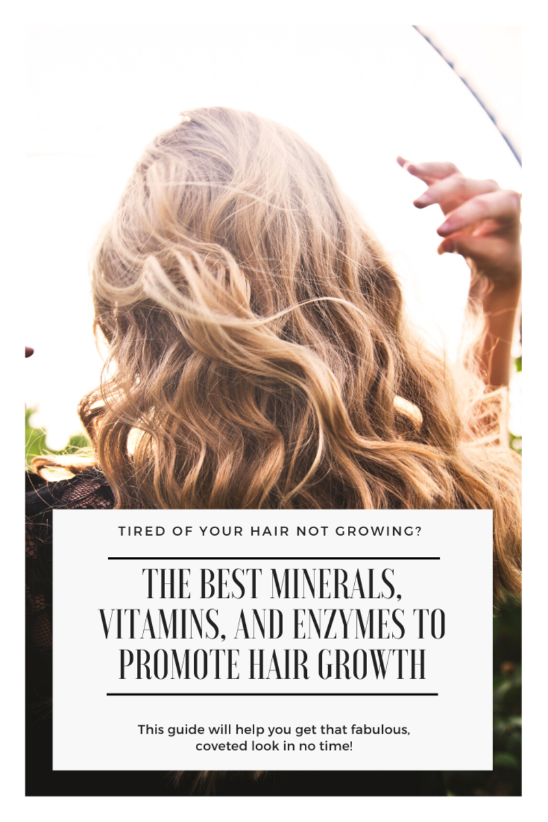 Worried about hair loss or thinning? I will teach you how to naturally promote growth by using vitamins, minerals, and enzymes.