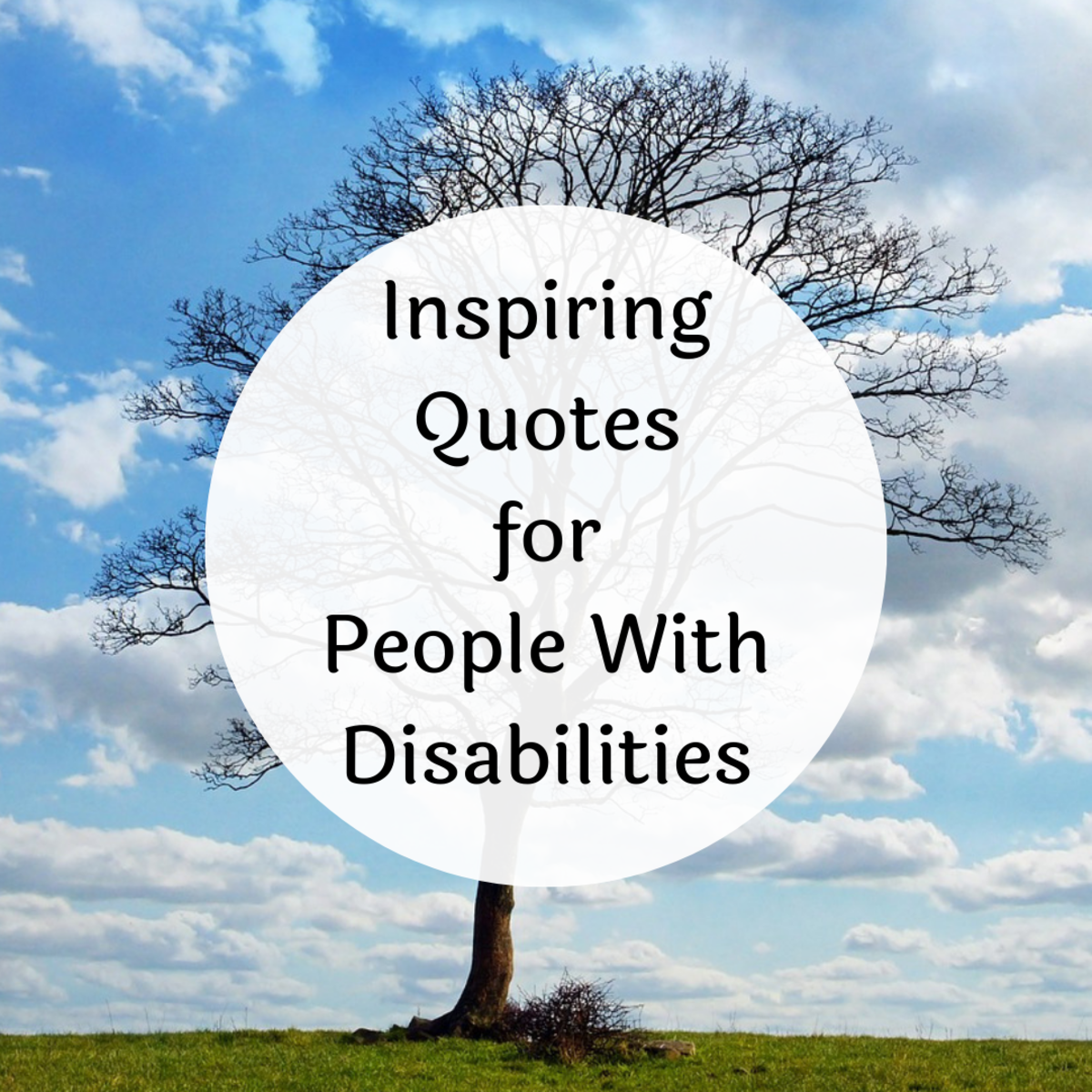 Explore some inspirational quotes about, for and from people with disabilities.
