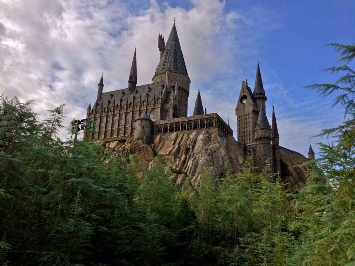 Hogwarts Castle at the Harry Potter Theme Park in Orlando, Florida