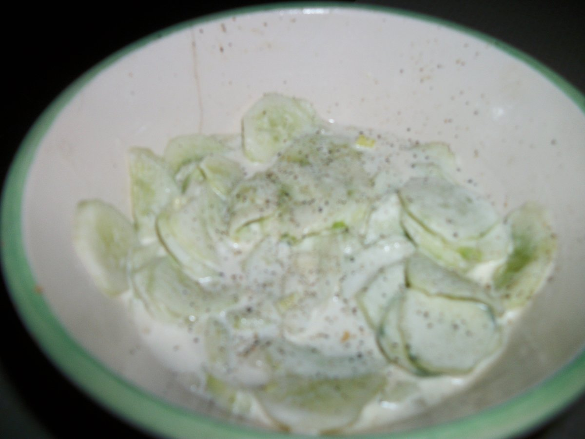 Creamy Cucumber Salad with Mayo and Vinegar