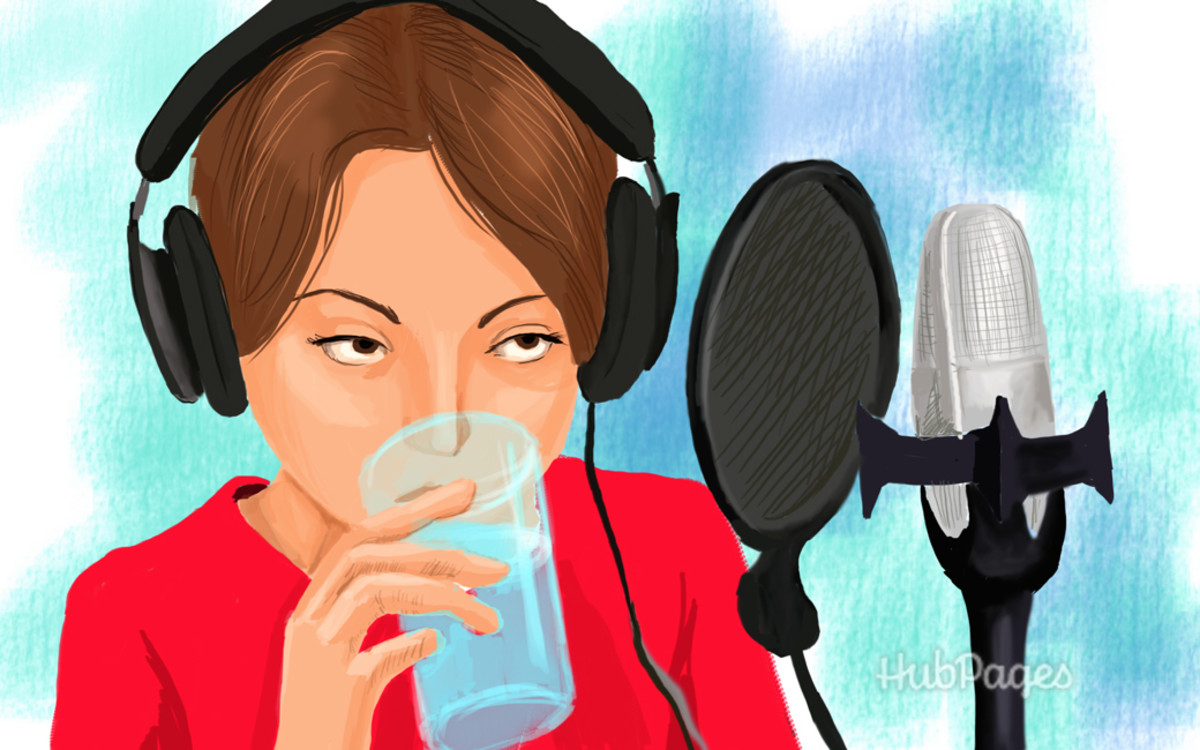 1. Drink plenty of water to keep the vocal cords hydrated.