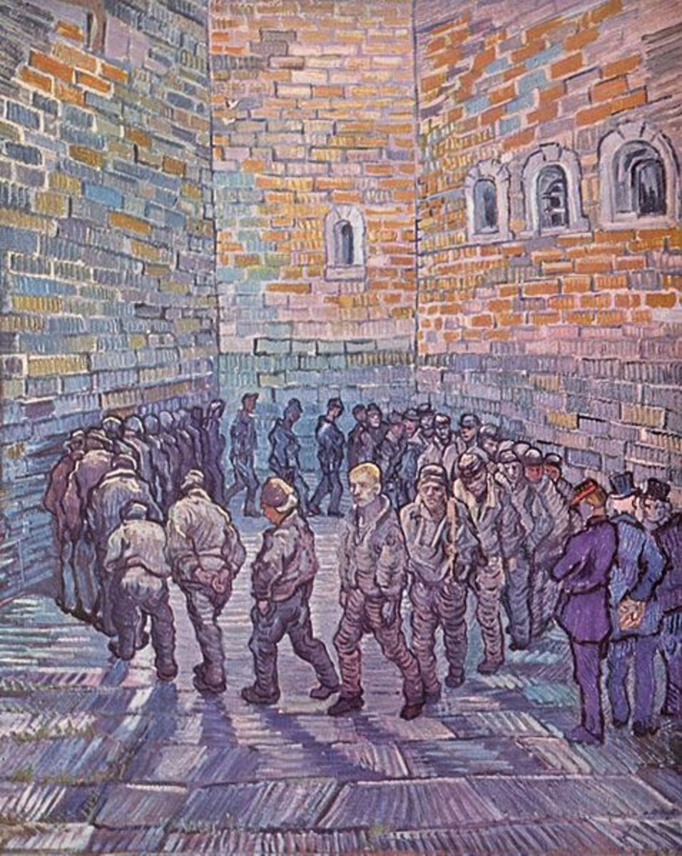 Analysis Prisoners Exercising by Van Gogh