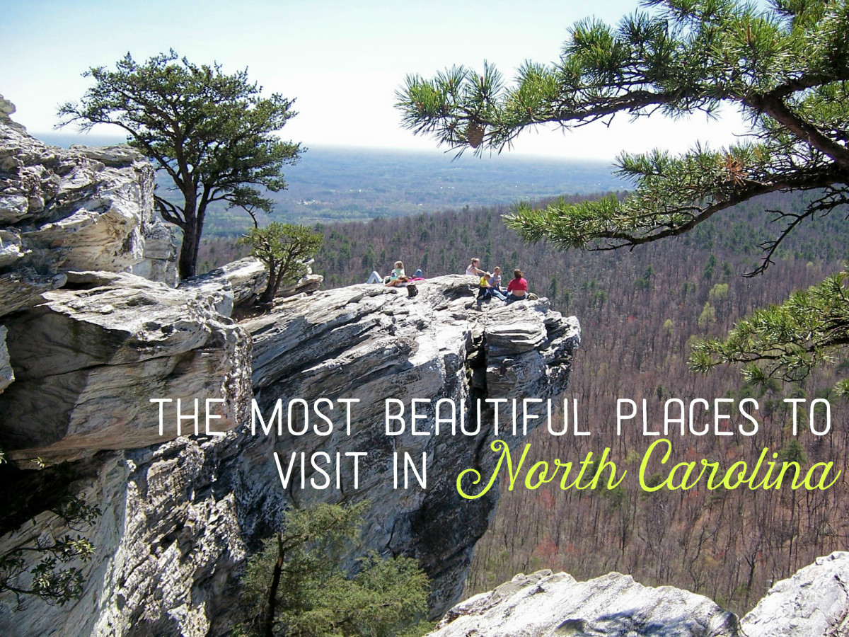 Hikers Enjoying The View From Hanging Rock One Of North Carolina S Many Beautiful Parks And
