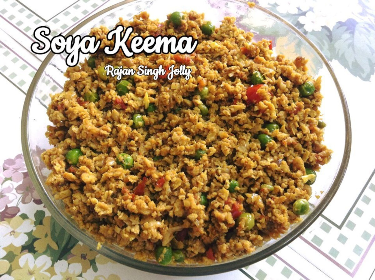 Indian-style vegetarian keema matar