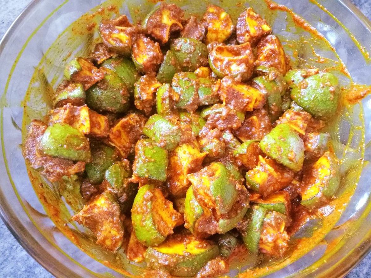 Andhra Mango Pickle Recipe (South-Indian-Style Avakaya Pachadi)
