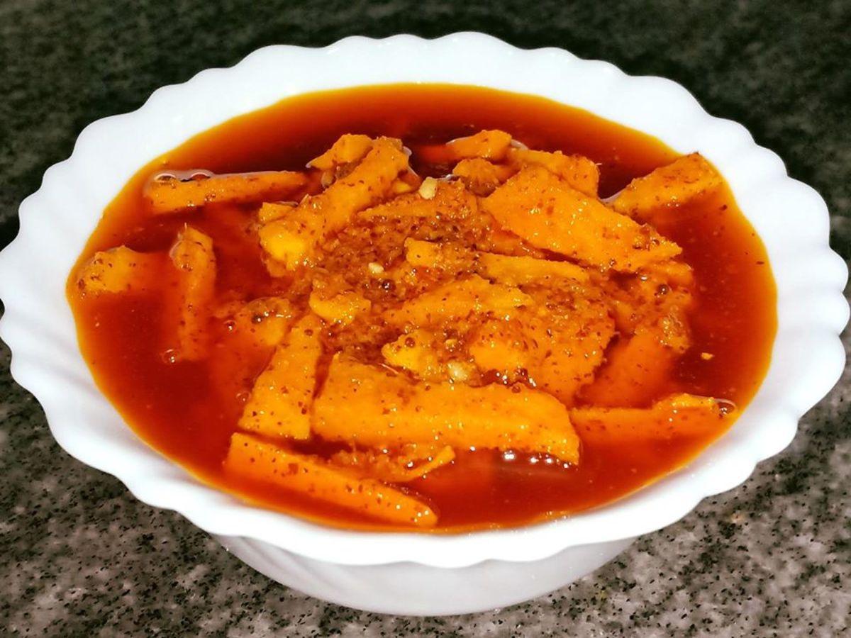 Fresh Turmeric Pickle Recipe (Kachi Haldi Achar)