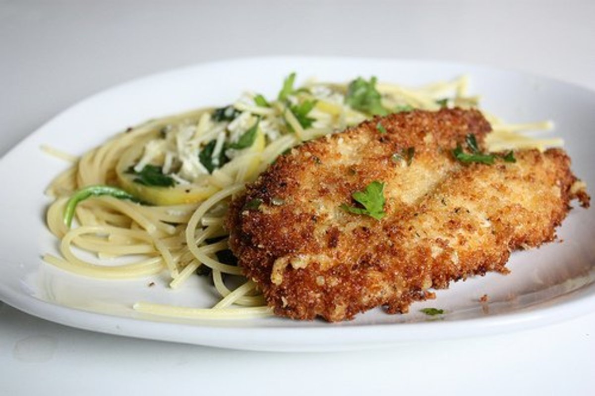 Beautiful Parmesan Crusted Chicken Cutlet