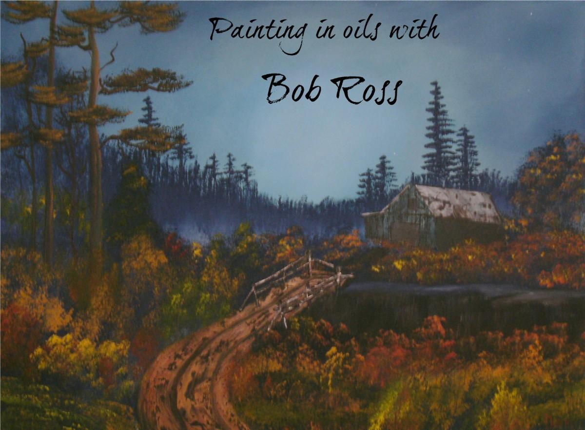 Painted by Dan Harmon using the Bob Ross methods