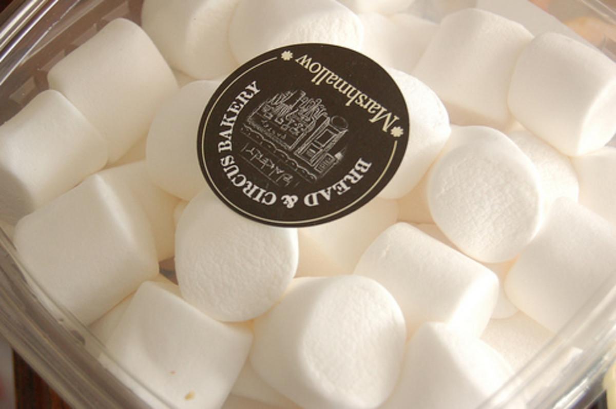 Marshmallows are a key ingredient in Grasshopper Ice Cream Pie.