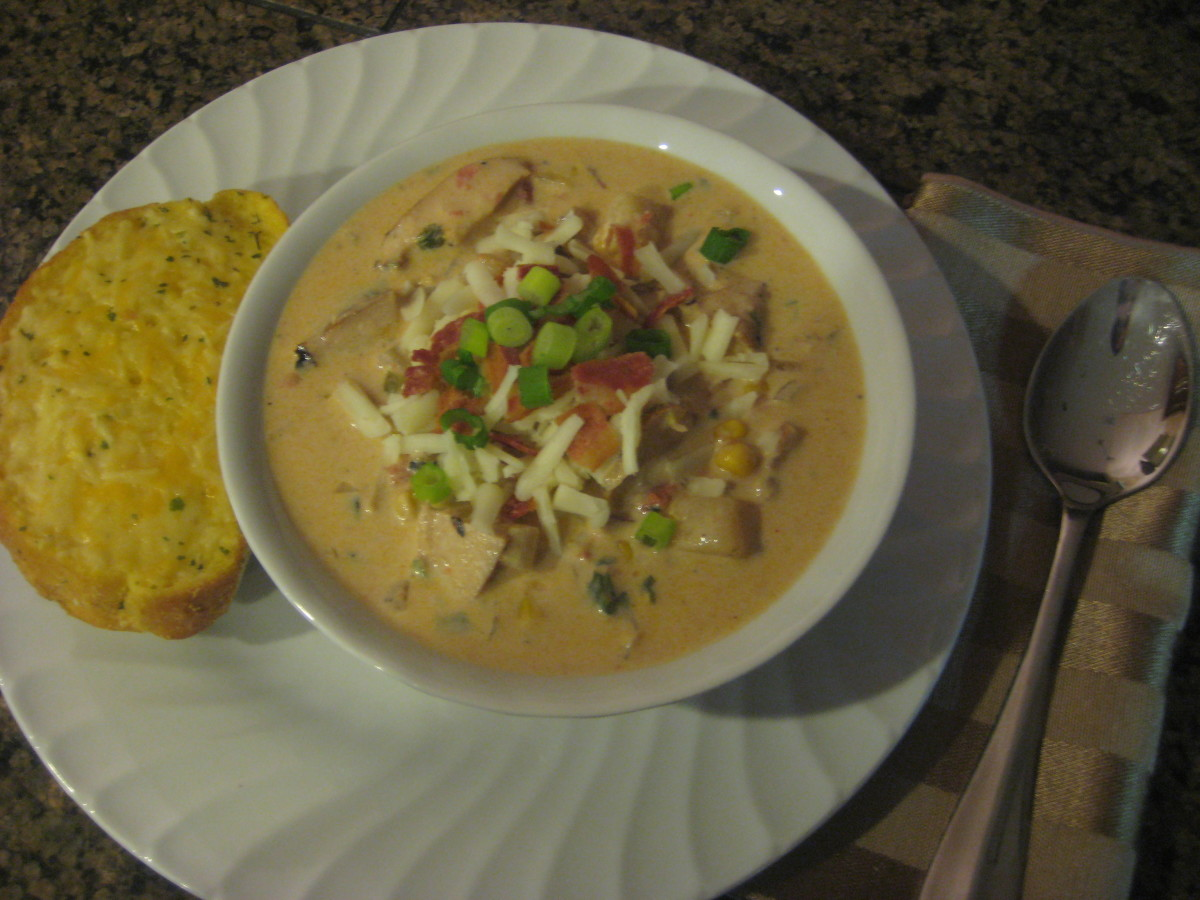 Smoked Chicken Chowder: a smoky soup recipe