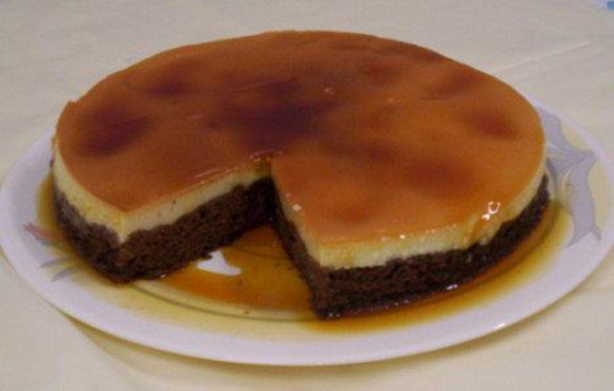 Chocolate Cake With Crème Caramel