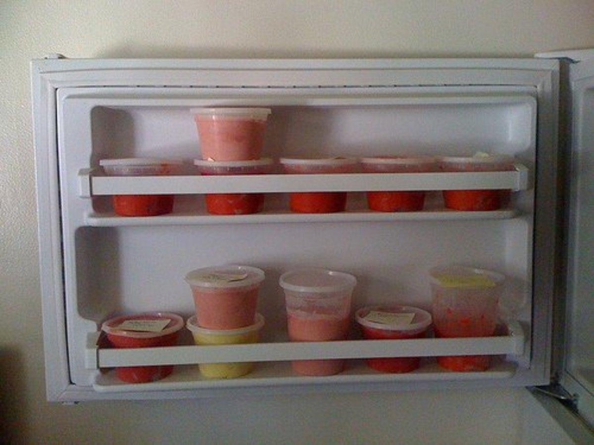 Frozen fruit desserts.