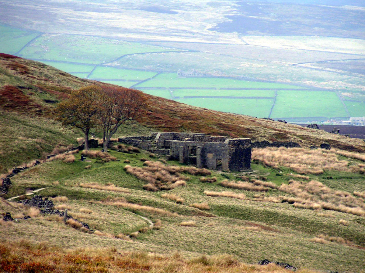 The ruins of an old house called Top Withins is thought by many to be the inspiration for Wuthering Heights.