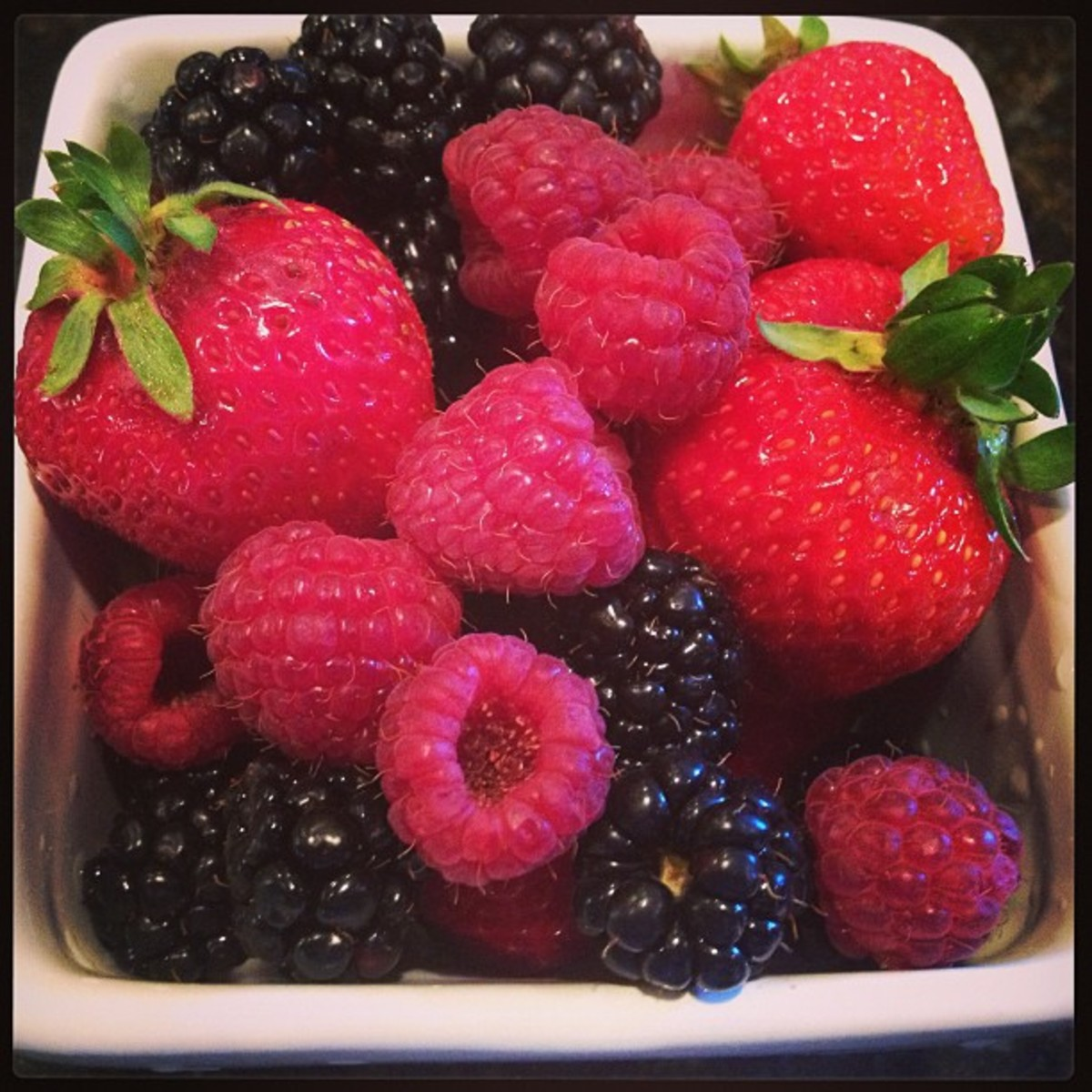 Fresh, organic berries make the best jam.  I try to either pick my own berries or buy them from a local farmers market.